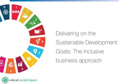 Delivering on the SDGs: The inclusive business approach