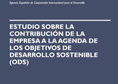 Estudio Sobre la Contribución de la Empresa a la Agenda de los Objetivos de Desarrollo Sostenible