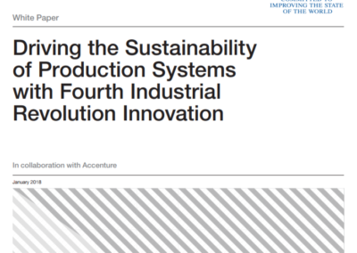 White Paper: Driving the Sustainability of Production Systems with Fourth Industrial Revolution Innovation