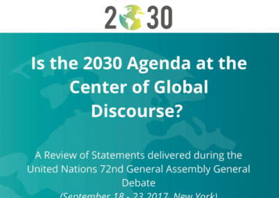 Report: Is the 2030 Agenda at the Center of Global Discourse?