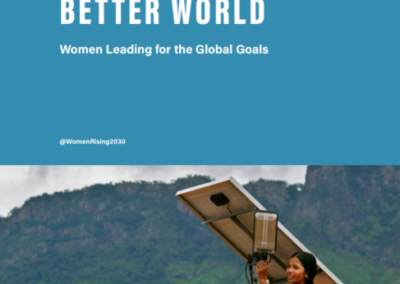 Better Leadership, Better World: Women Leading for the Global Goals