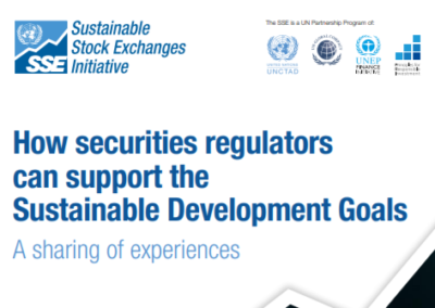 How securities regulators can support the SDGs