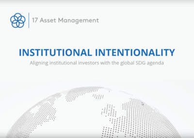 Institutional Intentionality. Aligning Institutional Investors with the Global SDG Agenda