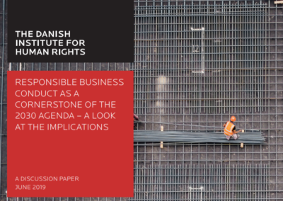 Responsible business conduct as a cornerstone of the 2030 Agenda – a look at the implications