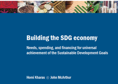Building the SDG economy – Needs, spending, and financing for universal achievement of the Sustainable Development Goals