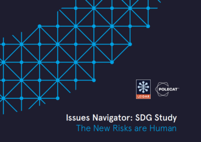 Issues Navigator: SDG Study – The New Risks are Human