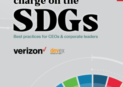 Leading the charge on the SDGs