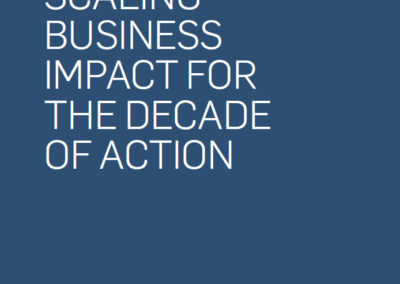 SDG Ambition – Scaling Business Impact for the Decade of Action