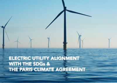 Electric Utility Alignment with the SDGs & the Paris Climate Agreement