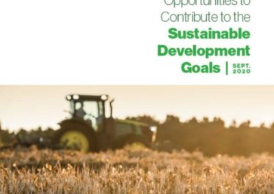 U.S. Agriculture's Opportunities to Contribute to the SDGs