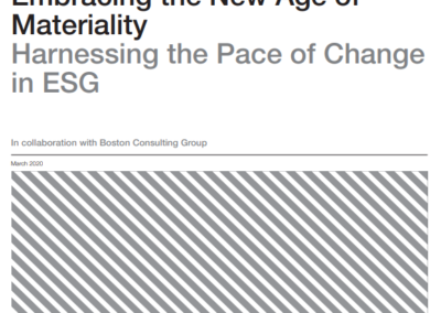 Embracing the New Age of Materiality: Harnessing the Pace of Change in ESG